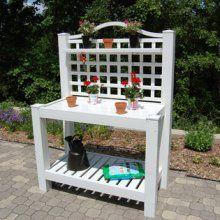 Potting Bench  (maintenance free PVC Vinyl)