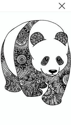 Panda Zentangle                                                                                                                                                                                 Más
