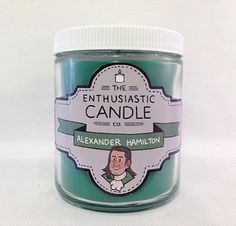ALEXANDER HAMILTON - Hamilton Fandom-Inspired Soy Candle