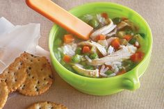 Find the recipe for Chicken & Rice Soup  and other poultry recipes at Epicurious.com