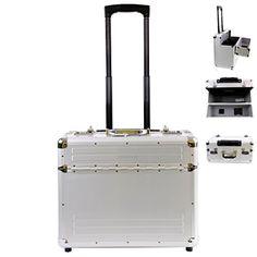 #Pilotenkoffer #Alu #Trolley #Businesskoffer mit #Rollen #Handgepäck #48 #x #39 #x 23cm mit #Laptopfach -…