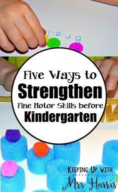 kindergarten - fine motor - kindergarten fine motor - fine motor activities