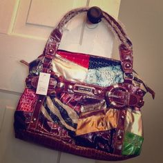 ⭐️HUGE⭐️ Jimmy Choo inspired purse or handbag!   NEW WITH TAGS!  and from a  smoke-free home. Jimmy Choo inspired handbag. Never used. Vibrant colors. Please see pics. Thank you.  ⭐️⭐️ MUST SELL... MAKE OFFER! ⭐️⭐️ Jimmy Choo Bags