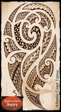 polynesian maori samoan tattoo design drawing by atlanticcoasttattoo