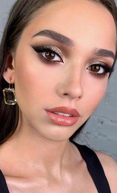 Black Dress Makeup, Black Eye Makeup, Fancy Makeup, Casual Makeup, Elegant Makeup, Glam Makeup Look, Sparkly Makeup, Stunning Makeup, Glamour Makeup Looks