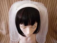 Excited to share the latest addition to my shop: Simple Headband Veil First Communion Veils, Communion Gifts, Headband Veil, Headpiece, Bachelorette Veil, Catholic Veil, Matte Satin, Etsy Shop, This Or That Questions