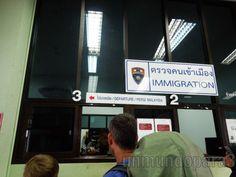 Pasando el control de pasaporte