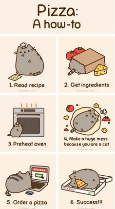 pusheen knows how to..