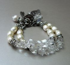 Modern Romance with Crystal Quartz Freshwater by pmdesigns09, $84.00