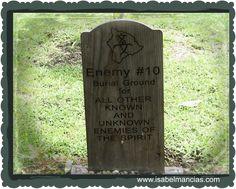 Enemigo #10 Todos los enemigos conocidos y No conocidos del espiritu.  Esta es una hermosa tradicion que nos explica el como debemos de cuidar de nosotros mismos y cambiar a lo positivo