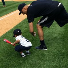 """That's my ball, Uncle Derek! #yankeesfamilyday2014 #FamilyFirst #LOVE #Priceless #re2pect"""