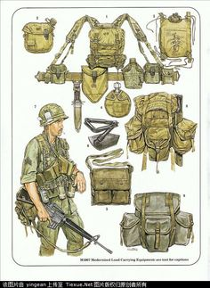 U.S. Army combat equipment, the Vietnam War M1967 combat equipment