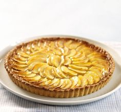 French Apple Tart with Pastry Cream and Apricot Glaze