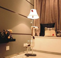 Floor Standard Lamps Decoration lamp Fabric Animated Dalmatians Dot Dog Children lamp Floor Lamp