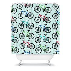 #Bike -inspired Shower Curtain