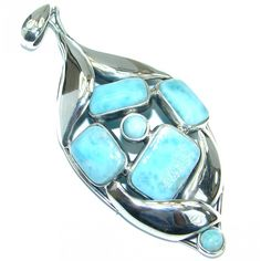 Melody 4 inches long Genuine Larimar .925 Sterling Silver handmade pendant Jewelry Design, Unique Jewelry, Silver Pendants, Handmade Silver, 1 Piece, Pendant Jewelry, Turquoise Bracelet, Sterling Silver, Bracelets