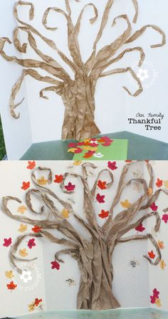 Free Silhouette Fall Leaves Cutting File. {Use it to make your own Family Thankful Tree!} from OneCreativeMommy.com
