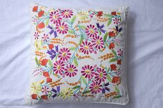 embroidered floral cushion by lulu and nat | notonthehighstreet.com