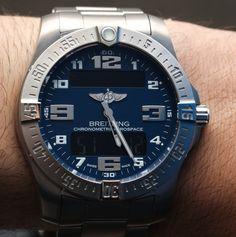 Breitling Aerospace Evo Watch E7936310/C869 Hands On   breitling Super Quartz Chrono-$4,600