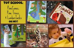 Jack of All Trades: Tot School: Pinecones, Pine Trees, and Lumberjacks: OH MY! Creating pinecone bird feeder, reading books, and working on puzzles with toddlers Pine Cone Bird Feeder, Bird Feeders, Reading Books, Books To Read, Mother Goose Time, Lumberjacks, Tot School, Pinecone, Pine Tree