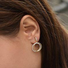 Náušnice ze stříbra Hoop Earrings, Jewelry, Fashion, Moda, Jewlery, Jewerly, Fashion Styles, Schmuck, Jewels