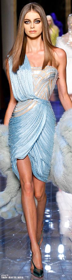 Spring 2014 Atelier Versace http://www.vogue.com/fashion-week/spring-2014-couture/versace/runway/# Waves flowing upon waves