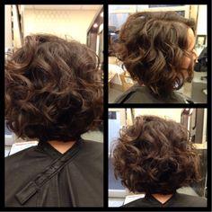 Be Inspired – Medium Hair – Randy Williams – Be Inspired – Medium Hair Be… – Zita Bretherton - Perm Hair Styles Short Curly Haircuts, Short Hairstyles For Thick Hair, Curly Hair Cuts, Permed Hairstyles, Wavy Hair, Pretty Hairstyles, Curly Hair Styles, Mother Of The Bride Hair, Hair Photo