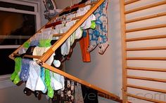 Laundry Room Wall Mount Drying Rack | gustitosmios