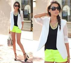 Resultado de imagen para look calça verde limão