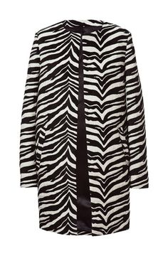 ZEBRA PATTERN JACQUARD COAT from Zara