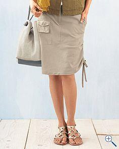 8ff4d42401933b Eileen Fisher Lightweight Cotton Canvas Cargo Skirt Was $138.00 Now $82.00  - $89.00