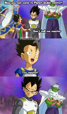 Hahaha I loved this moment ' <3 #Vegeta #Kyabe #Cabba #Piccolo #DBS