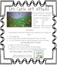 3-6 Free Resources: Eric Carle Art Project