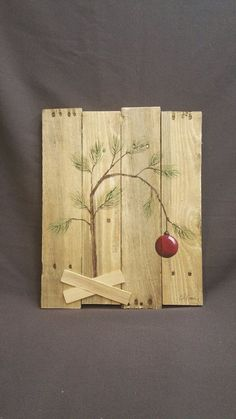 Charlie Brown Christmas tree, Hand panted Christmas decorations, Peanuts, Snoopy, Reclaimed Pallet … - 2019 Home Ideas Pallet Christmas, Christmas Signs, Country Christmas, Christmas Art, Christmas Projects, All Things Christmas, Winter Christmas, Christmas Decorations, Christmas Ornaments