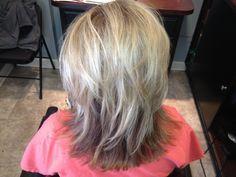 Lowlights for Gray Hair   Betsy Hyman added Highlights and Lowlights to Lynn Caulder hair