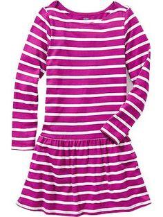 Girls Striped Jersey Dresses | Old Navy (2)