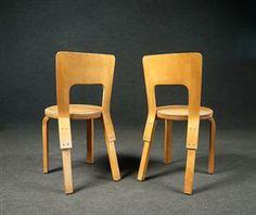 9f6a6ad0aab Lauritz.com - Alvar Aalto, spisebordsstole model 66 for Artek (4) Denne  auktion er annulleret - se nu vare #1409439