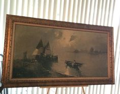 DePinna Oil on Canvas transfer The Boat Signed by the by USANOW