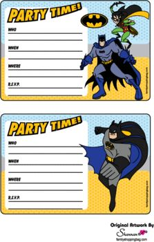Invites, Batman, Invitations - Free Printable Ideas from Family Shoppingbag.com