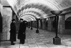 Moscow, subway station Okhotny Ryad. Distribution Hall. (ca. 1935)