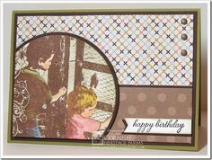 Happy Birthday created by Frances Byrne using stamps from Cornish Heritage Farms