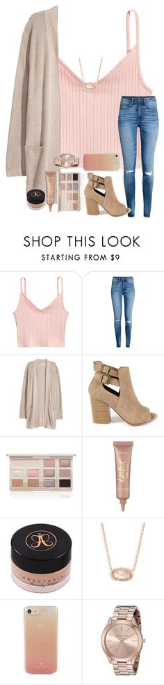 """Thursdays...rtd"" by ctrygrl1999 ❤ liked on Polyvore featuring H&M, GRETCHEN, Too Faced Cosmetics, tarte, Kendra Scott, Kate Spade and Michael Kors"