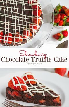 Fudge Lover's Strawberry Truffle Cake~The perfect Valentine's Treat!