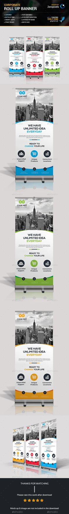 Corporate Roll-up Banner Banner vector, Signage and Banners - purchase order template open office