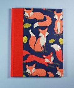 Baby Journal Keepsake Book RED FOXES handmade in by WolfiesBindery, $25.00