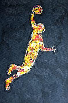 """""""Wer die Ordnung im Chaos findet, wird gewinnen; wer das Chaos ordnen will, wird verlieren."""" Hans Zaugg """"Basketballspieler"""" Mischtechnik: Tusche und Fotomanipulation von Jörg Schubert """"Basketball Player"""" Mixed media: Ink and photo manipulation by Jörg Schubert Schubert  #art #kunst #mischtechnik #mixed #media #fotomanipulation #ink #tusche #glitch #pop #basketball #sport #sports #photo #manipulation #zitate www.chanceforum.de"""