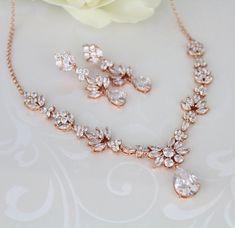 Bridal jewelry set Wedding necklace set by TheExquisiteBride