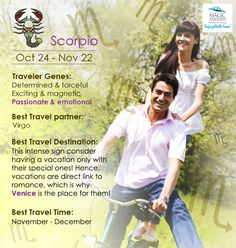 The #Travel #Personality of #Scorpio is as such: #Zodiac #Scorpio is the #Determined #Passionate #SunSign #Venice.