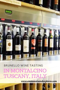 Brunello Tasting in Montalcino, Tuscany, Italy by Emma Eats - wine tasting