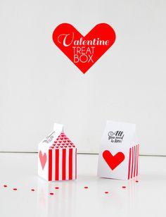 Valentine Treat Box Free Download